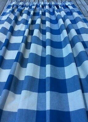 £36 • Buy  Laura Ashley 51  X 54  Falmouth Check  In Blue  & White Pair Of Curtains