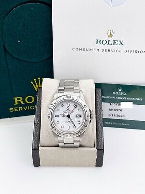 $ CDN15729.33 • Buy Rolex Explorer II 16570 White Dial Stainless Box Service Paper 2020 Very Rare