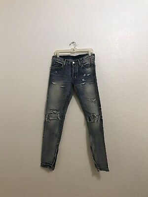 $ CDN41.28 • Buy MNML Men's Distressed Ankle Zippers Tapered Skinny Jeans Size 31