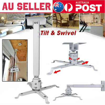AU13.12 • Buy 2 In 1 Extendable LCD LED Projector Ceiling Wall Bracket Tilt Mount Stand BU