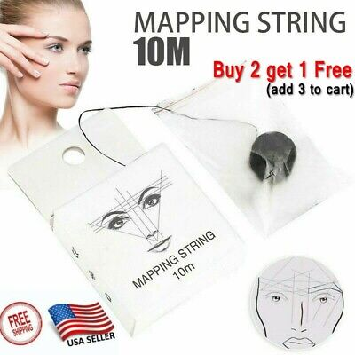 $8.16 • Buy 10M Pre-Inked Brow Mapping Thread Strings Pigment String Eyebrow Portable Makeup