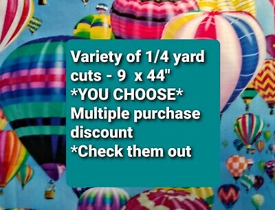 £1.09 • Buy Fabric 1/4 Yard - 9  X 44  Different Designs And Patterns For YOU TO CHOOSE FROM