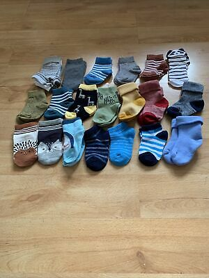 £12 • Buy Mixed Bundle Of Baby Boy Socks Aged 0-12months (22 Pairs)