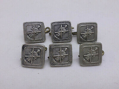 £1.20 • Buy Set Of 6 Scottish White Metal St Andrews Apostle Buttons / Studs