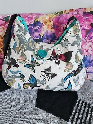 £6 • Buy A Beautifully Handmade Butterfly Print Shoulder Bag. Immaculate Condition