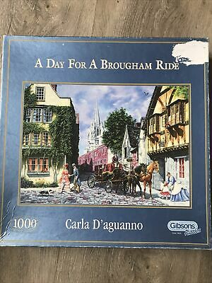 £1 • Buy GIBSONS 'A Day For A Brougham Ride' 1000 Piece Jigsaw Puzzle