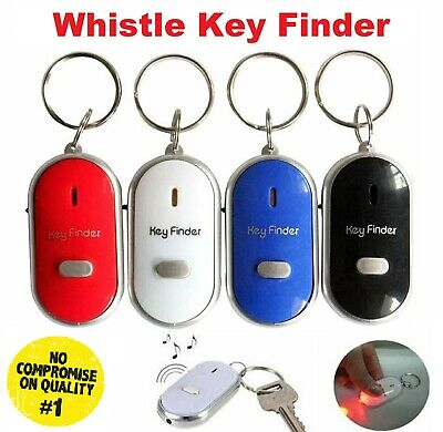£2.49 • Buy Anti Lost Key Finder Whistle Flashing Beeping Locator Remote Chain LED Torch UK