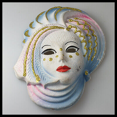 £12.99 • Buy Old Rare Vintage Wall Hanging Home Decor Carnival Ball Party Ceramic Mask Face