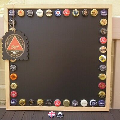 £15.99 • Buy Handmade Beer Bottle Top/Caps Chalk Board/Note Board, Gift Tag & 2 Magnets❤️Bar❤