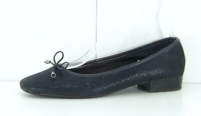 £9.99 • Buy RIVA Navy REAL LEATHER Suede Ladies Shoes Ballet Pumps Size UK 8 EUR 42