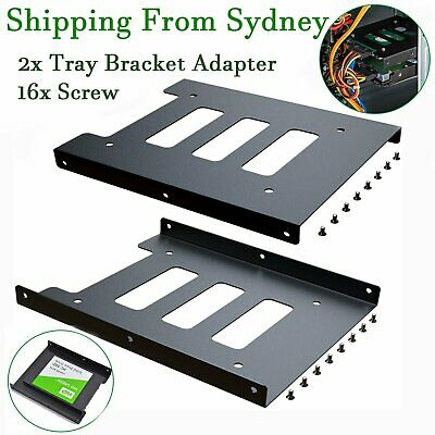 AU6.85 • Buy 2pc Black 2.5  SSD To 3.5  Bay Hard Drive HDD Mounting Dock Tray Bracket Adapter
