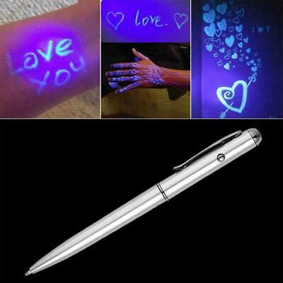 £1.27 • Buy Creative LED UV Light Ballpoint Pen With Invisible Ink Secret US Y4P5