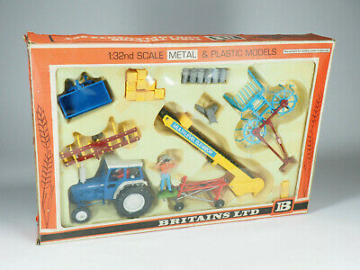 AU399.37 • Buy BRITAINS - 9590 - Farm Tractor Ford And Implements Set - En Boite