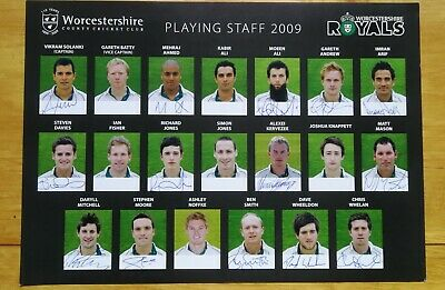 £3.50 • Buy 2009 Worcestershire CCC Playing Staff (multi Signed)