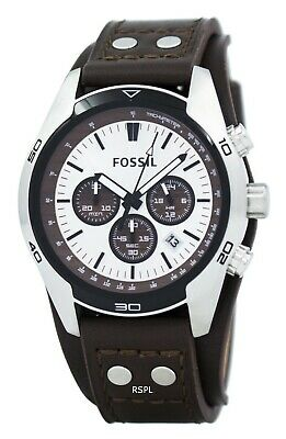 $98.48 • Buy Fossil Cuff Chronograph Tan Leather CH2565 Men's Watch