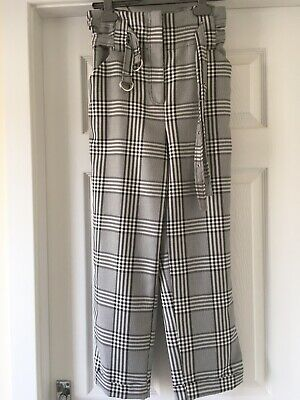 £2.99 • Buy Ladiies River Island Checked Cropped Trousers Size 10 New