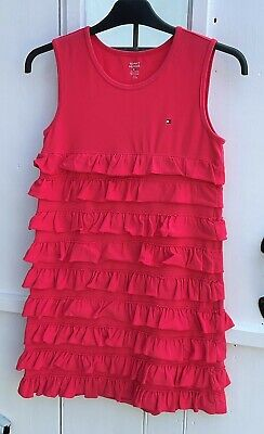 £2.99 • Buy Tommy Hilfiger - Dress - Girls Age 12 - 14 Years - Pink Cotton Charleston Party