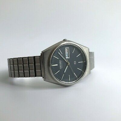 £49 • Buy Vintage Men's Seiko Quartz Watch With Blue Dial And Date Window