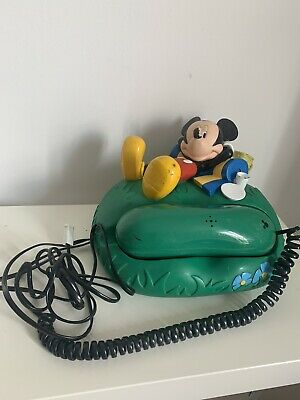 £34.99 • Buy Mickey Mouse Picnic Telephone Corded Vintage Rare - Prop