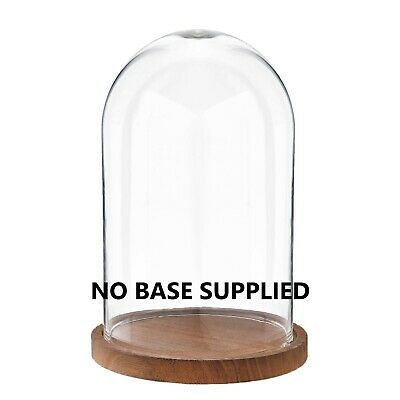 £9.99 • Buy Glass Dome Display Bell Jar Round Cloche Dome 22CM - NO BASE