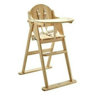 £60 • Buy East Coast Folding Wooden Highchair - Natural