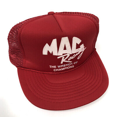 $14.95 • Buy Vintage NOS New MAC RACING The Wrench Of Champions Mesh Trucker Hat Snapback Y