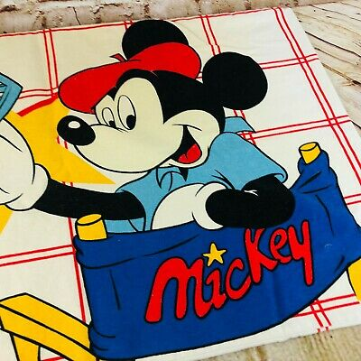 £9.78 • Buy Vintage Disney Mickey Mouse Director's Chair  Pillow Case 19   X 30