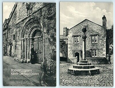 £1.99 • Buy 2 POSTCARDS - Cumbria, Kirkby Lonsdale Church & Cross, Local Kendal Publisher