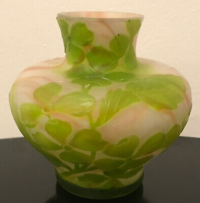 """£411.71 • Buy French Cameo Antique Art Cabinet Glass Vase Galle Daum Unsigned Mint 4"""""""