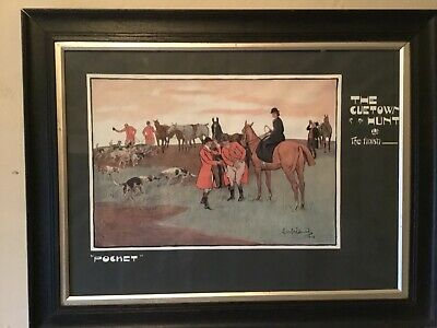 """£29.90 • Buy Lionel Edwards Hunting Print """"Cuetown Hunt"""""""