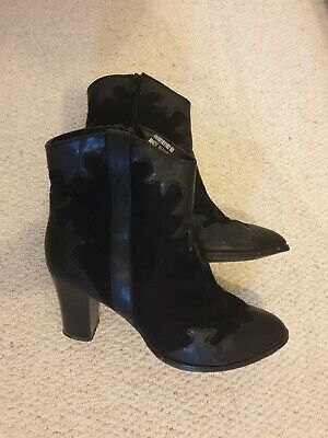 £6 • Buy Red Herring Black Cowboy Boots Size 7