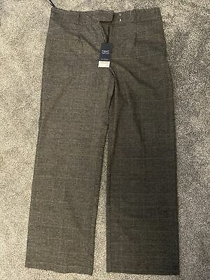 £1.30 • Buy Next Tailoring Grey Checked Wide Leg Trousers 14R