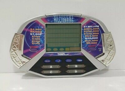 £4.97 • Buy 2000 Tiger Who Wants To Be A Millionaire Electronic Game Handheld Trivia
