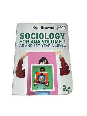 £5 • Buy Aqa A Level Sociology Year One Browne Textbook