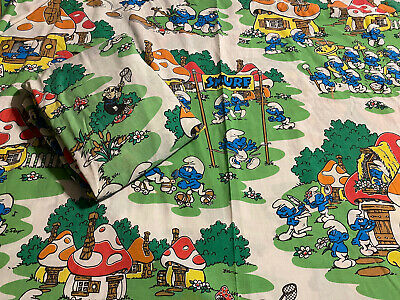 £29.31 • Buy Vintage Smurfs Twin Size Sheet Set  Flat & Fitted