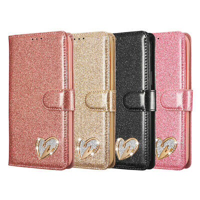 AU12.99 • Buy Glitter Wallet Case For IPhone 12 11 Pro Max 8 7 6 XR XS Card Leather Flip Cover
