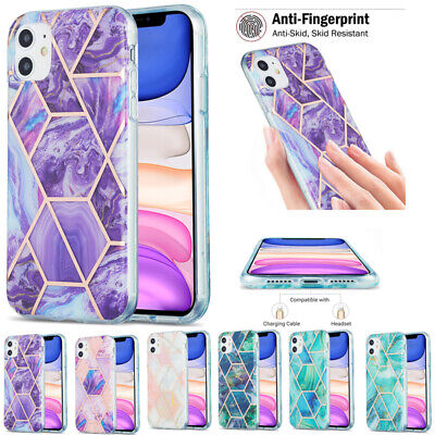 AU14.88 • Buy For IPhone 11 12 Pro Max 7 8 Shockproof Marble Soft TPU Silicone Back Case Cover