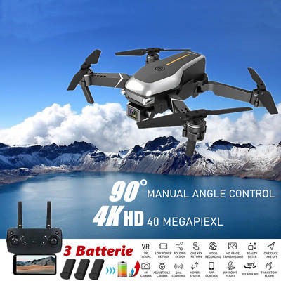 AU63.99 • Buy Drones With HD 4K Dual Camera Follow Me RC Brushless Wifi FPV Drone + 3*Battery