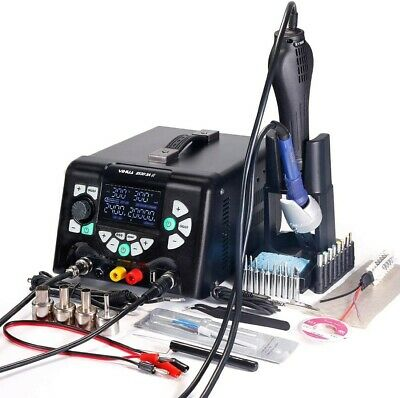 £80 • Buy YIHUA 853D 5A-II 3 In 1 Hot Air Rework Soldering Iron Station 5A0V  5V New Boxed