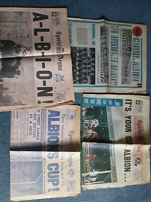 £14.99 • Buy Newspapers West Bromwich Albion 1954 1968 FA Cup Final & 1969 FA Cup Semi Final