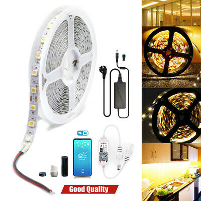 AU28.99 • Buy 5m-20m Led Strip Lights Warm White 5050 Wifi Alexa APP Control Adapter Dimmable