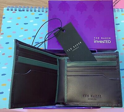 £20 • Buy TED BAKER InvesTED Chocolate Leather Internal BiFold Wallet BNIB - A11