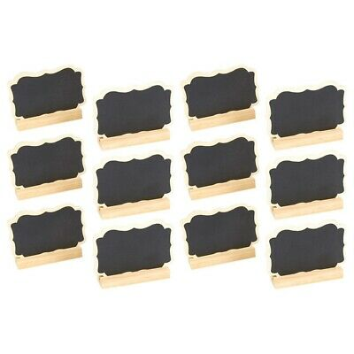 £6.17 • Buy 12 Mini Chalkboard Signs Stand-Chalkboard Place Cards Message Board Wedding S1A8