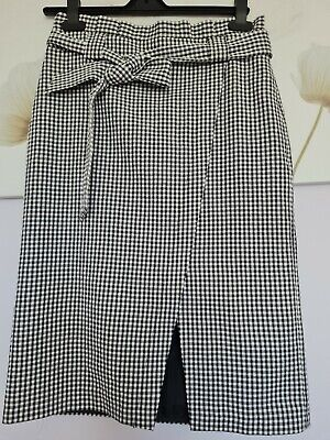 £1.85 • Buy Ladies Skirt Size 10 Tu Black And White Checked Happy 😊to Combine Postage