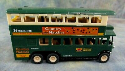 $ CDN7.36 • Buy SS 5854 Green Die Cast Model London Double Decker Bus Country Matches Ad