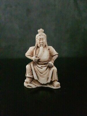 £20 • Buy Hand Carved Resin Netsuke Old Wise Man