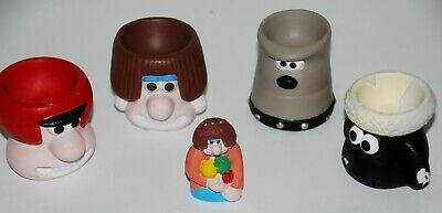 £6.80 • Buy VINTAGE 1989 Wallace & Gromit Typhoo Tea Egg Cups And Pepperpot