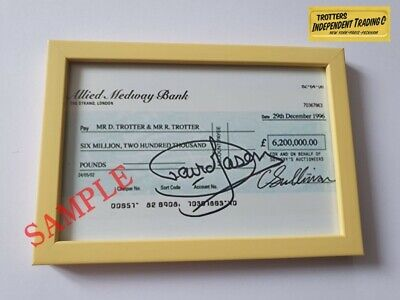 £7.50 • Buy Only Fools And Horses Prop COPY Millionaires Cheque SIGNED BY DAVID JASON 6x4 ⚡