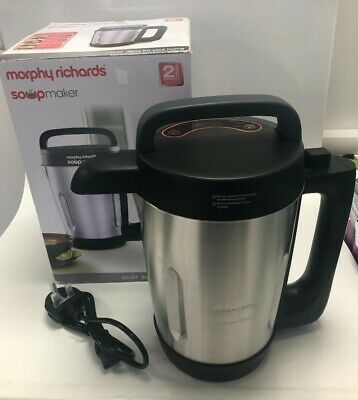 £14.50 • Buy Morphy Richards Compact Stainless Steel Soup Maker Model 50102 Boxed #863