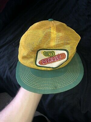 £24.99 • Buy Vtg Dekalb Seed Patch Flying Corn Trucker Mesh Cap Hat K-products - Made In Usa!